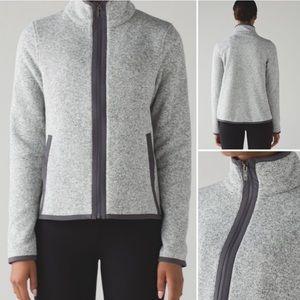 EUC Lululemon Grey Fleece Zip Up Jacket MSRP $128